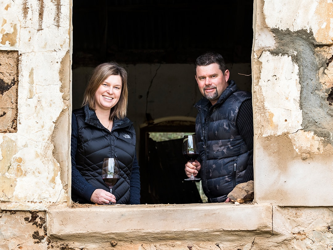 Nick & Carol Riebke - old stables of Lost Penny Wines